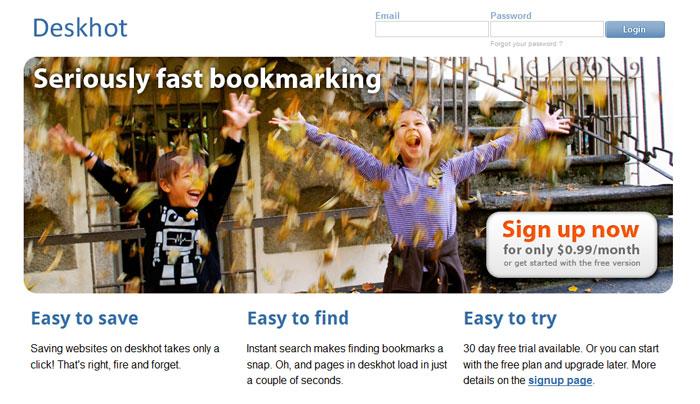 New deskhot homepage